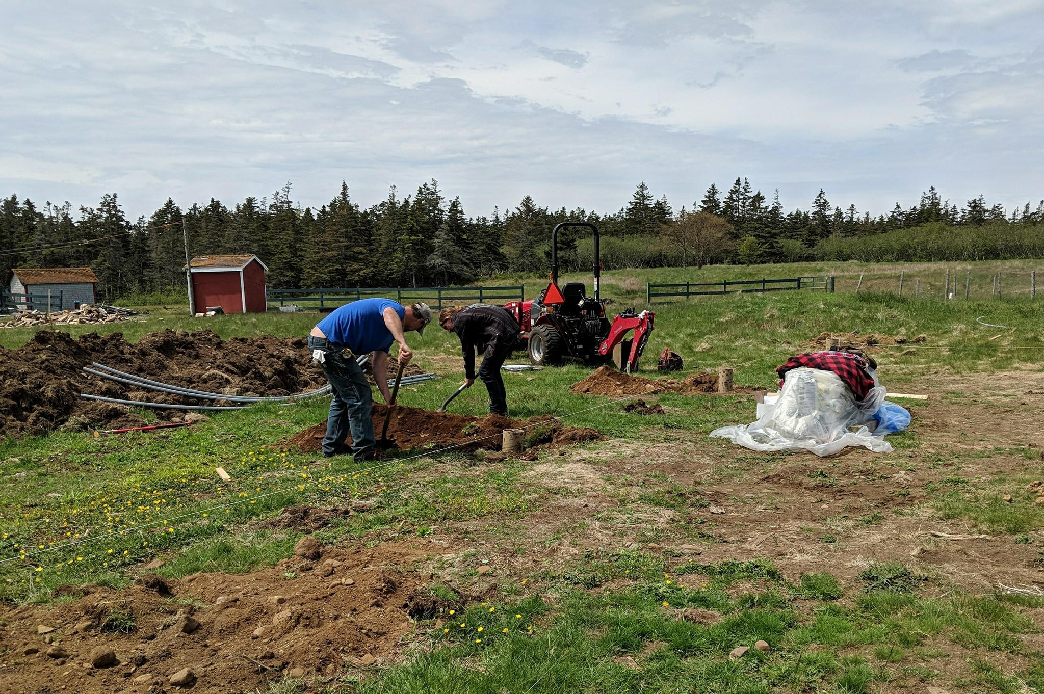 Brier Island Lodge food Greenhouse contruction 2