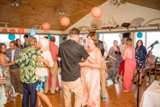 Brier Island Lodge Wedding Beach Bride dance