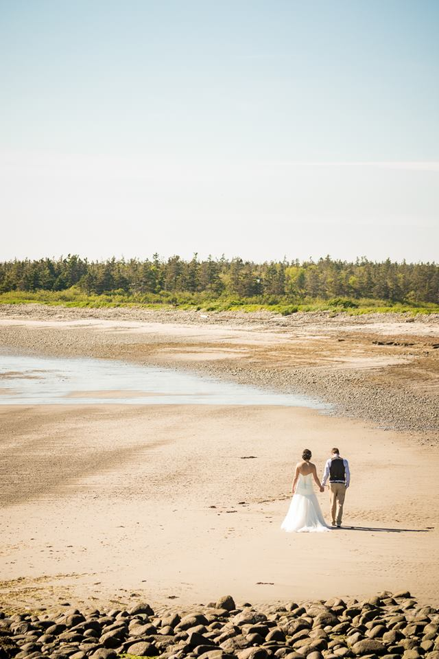 Brier Island Lodge Wedding Beach Bride Michael carty